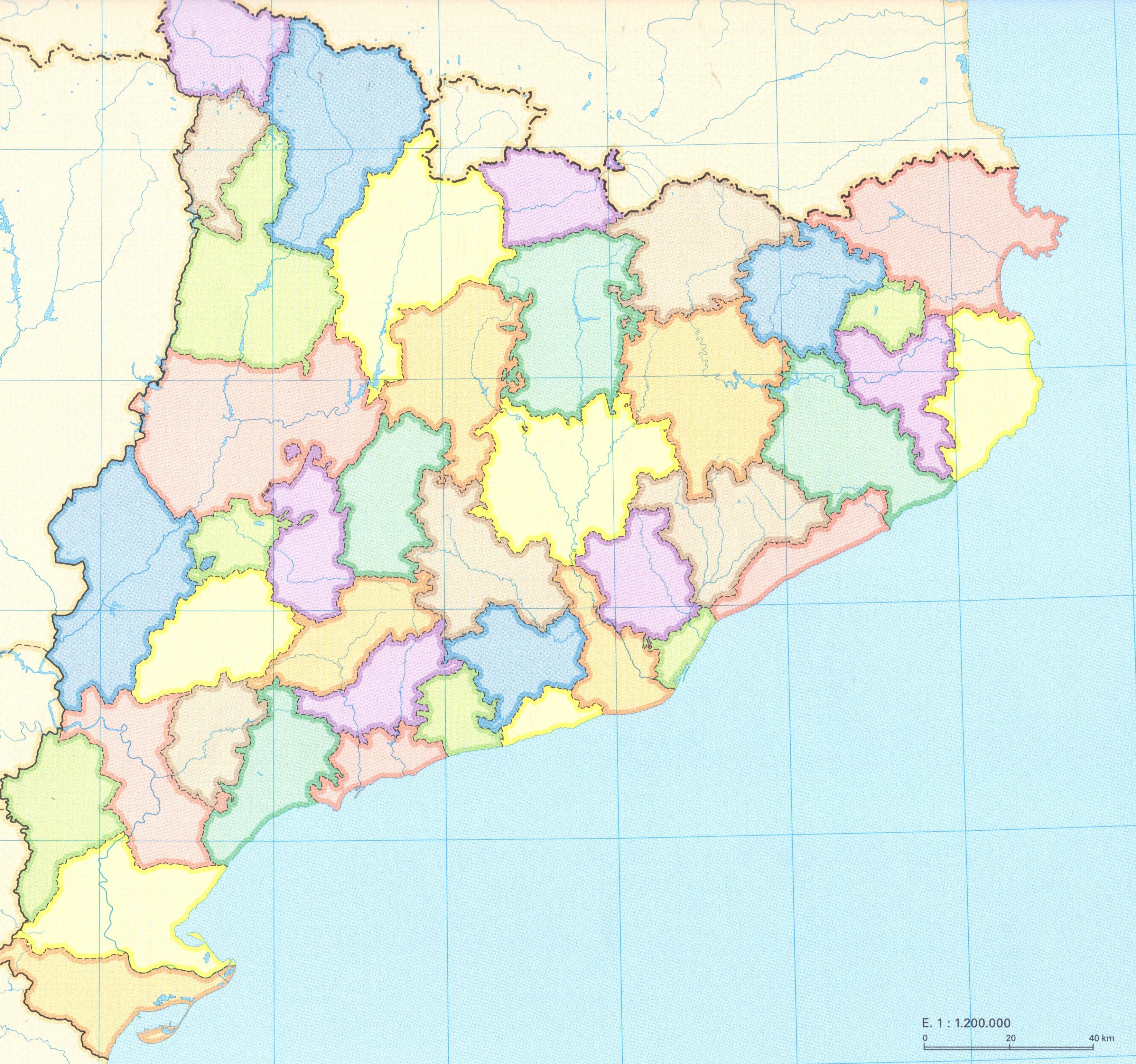 Mapa Físic De Catalunya Mut.Departament De Ciencies Socials Institut Montilivi